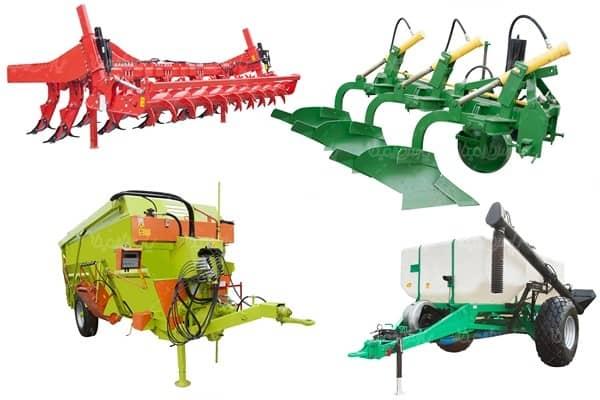 مجموعهای از تجهیزات کشاورزی